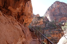 Parc National de Zion - Route entre Mt Carmel Junction et le tunnel - Canyon Overlook Trail