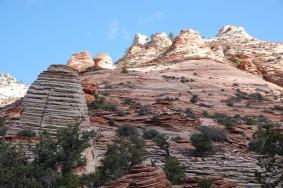 Parc National de Zion - Route entre Mt Carmel Junction et le tunnel - Canyon Overlook Trail