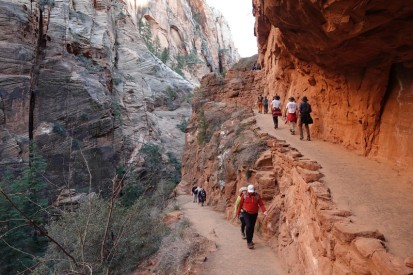 Parc national de Zion - Angels Landing Trail - Lacets assez serrés !