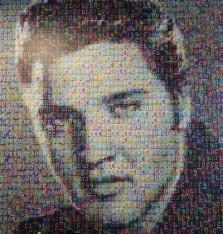Las Vegas - The Linq - Tableau d'Elvis réalisé avec des centaines de petits carrés colorés (vu dans une boutique)