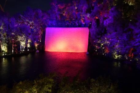 Las Vegas by night - The Wynn - Mur d'eau illuminé