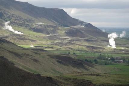 En bas de la Vallée de Reykjadalur