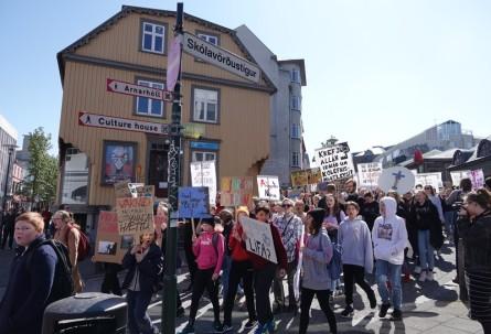Reykjavik - Manifestation de jeunes pour le climat