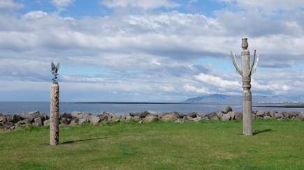Presqu'ile non loin de Garðabær - Ancien village de pêcheurs - Totems islandais