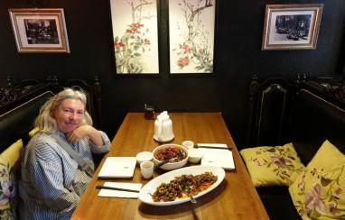 Los Angeles - Déjeuner asiatique - Cuisine du Sichuan très épicée mais excellente !