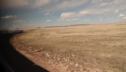 Train Los Angeles / Chicago - Soutwest Chief - Nouveau Mexique - On aperçoit la locomotive...
