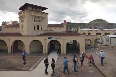 "Train Los Angeles / Chicago - Soutwest Chief - Pause ""fresh air"" à Raton"