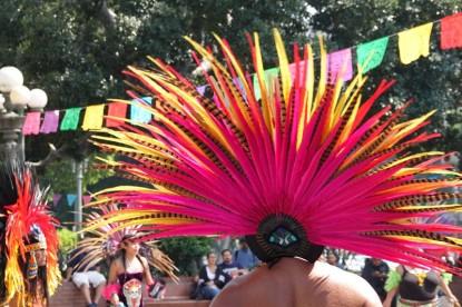 Los Angeles Downtown - Pueblo mexicain - Danses aztèques