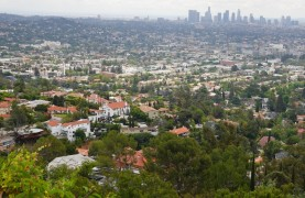 Los Angeles - Hollywood - Griffith Park - Vue sur Downtown au loin