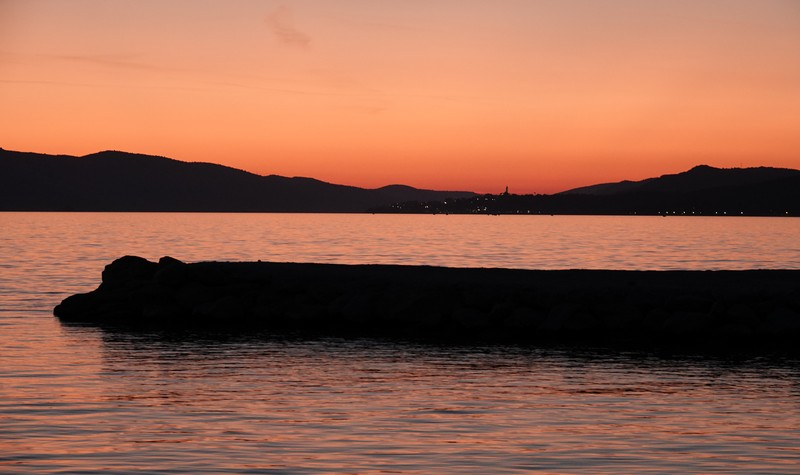 Trogir - Camping Rozac - Coucher de soleil...