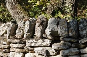 Chamaret - Muret de pierres