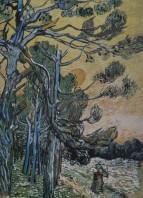 Saint Rémy de Provence - Itinéraire des paysages de Van Gogh (reproduction)