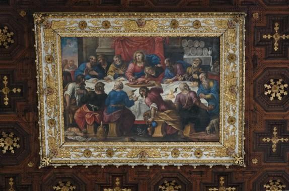 Lecce - Duomo - Détail du plafond avec peinture