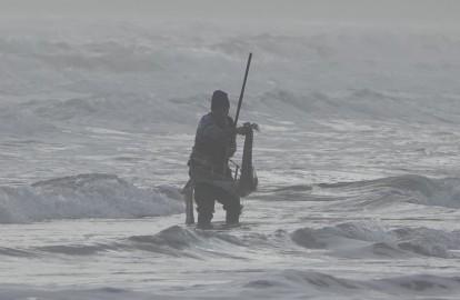 Plage du camping Lido Salpi - Pêcheur de coques