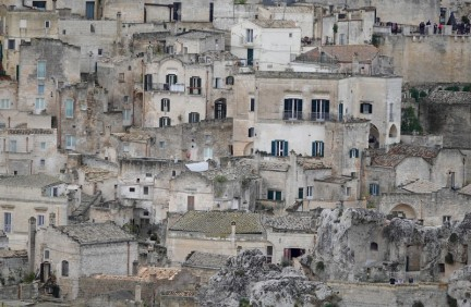 Matera - Vue du Belvédère di Murgia Timone - Zoom sur les sassi