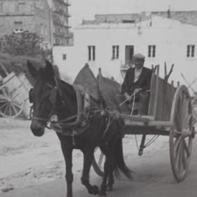 Matera - Maison-grotte de Vico Solitario - Photo d'archives (1930)