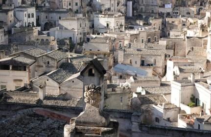 Matera - Vue depuis l'esplanade du Duomo