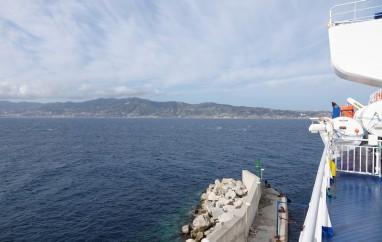 A bord du ferry pour la Sicile - En route pour Messine...