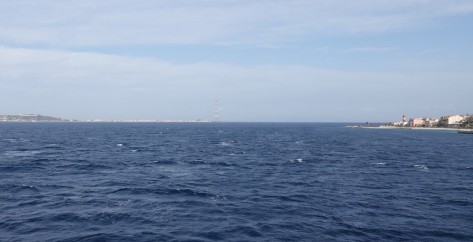 A bord du ferry pour la Sicile - Détroit de Messine