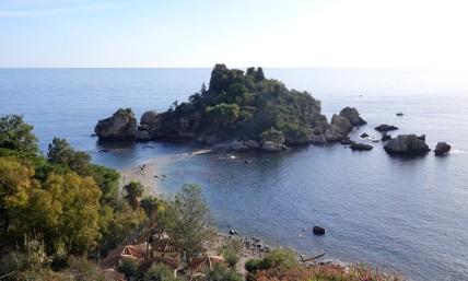 Balade à vélo - Isola Bella vue de la SS114