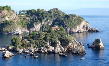 Balade à vélo - Presqu'ile faisant face à Isola Bella