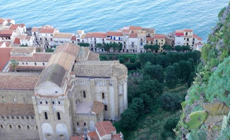 Cefalù - La Rocca - Vue sur la vieille ville et l'arrière du Duomo
