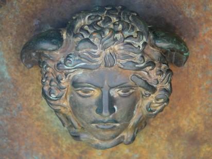 Site archéologique de la Vallée des Temples - Détail à l'intérieur de la statue située devant le Temple de la Concorde
