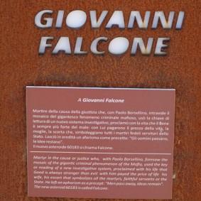Site archéologique de la Vallée des Temples - Lieu de mémoire - Hommage à Giovanni Falcone, juge engagé dans le combat contre la mafia et assassiné par Causa Nostra en 1992