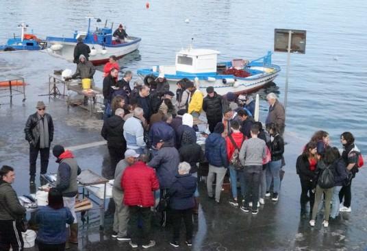 Balade à vélo Sferracavallo / Isola delle Femmine - Marché aux poissons