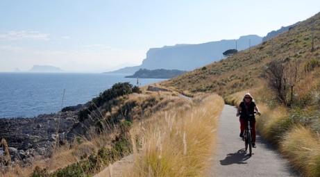 Balade à vélo Sferracavallo / Mondello - Vers le cap Gallo