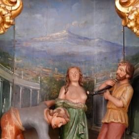 Catane - Église Saint François d'Assise - Le martyr de Sainte Agathe