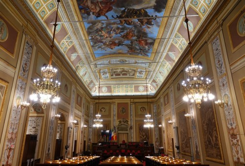 Palerme - Palais des Normands - Appartements royaux - Salle de l'Assemblée régionale de Sicile