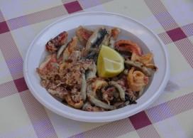 Palerme - Marché Vucciria - Très bonne friture de poissons !