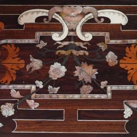 Palerme - Oratorio San Lorenzo - décor de banc