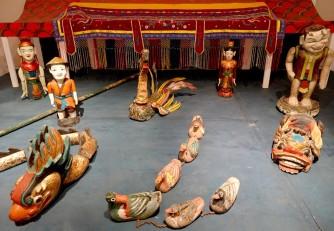 Palerme - Museo Internationale delle Marionette Pasqualini - Vietnam, marionnettes sur l'eau