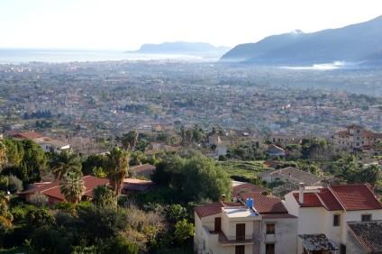 Monreale - Vue sur la Conca d'Oro et Palerme
