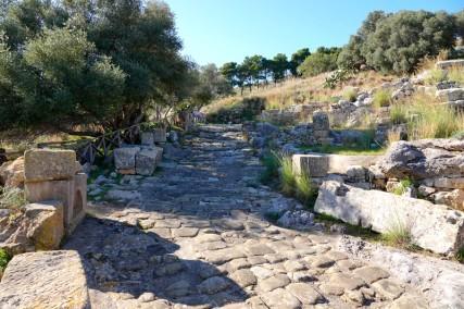 Site archéologique de Solunto - Ancienne route phénicienne