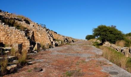 Site archéologique de Solunto - Rue principale au temps des Phéniciens...