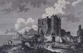 Erice - Copie de gravure représentant la ville autrefois