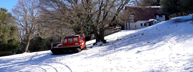 Dans la neige, du côté de Castelbuono!