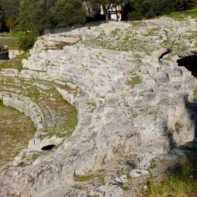 Syracuse - Parc archéologique de Néapolis - Amphithéâtre romain