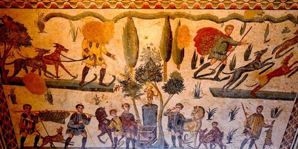 Villa romaine du Casale - Chambre de la petite Chasse