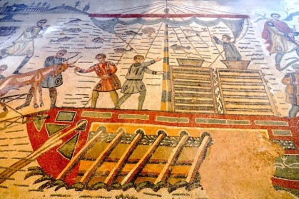 Villa romaine du Casale - Corridor de la grande Chasse