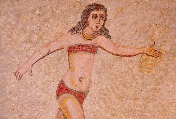 Villa romaine du Casale - Salle des Dix Jeunes Filles