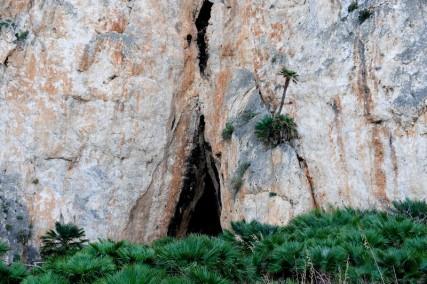 Réserve naturelle Monte Cofano - Rando autour du Monte Cofano - Grotte abritant un petit lieu de pélerinage