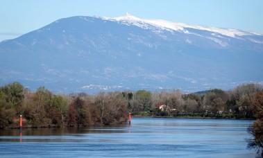 Villeneuve-lès-Avignon - Vue sur le Ventoux et le Rhône