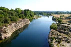Aller-retour à vélo au Pont du Gard via Aramon / Montfrin / Meynes