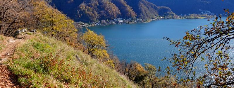 Le Monte Caslano, un beau belvédère sur le lac deLugano…